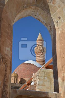Szczegóły starożytnego pałacu Ishak Pasha