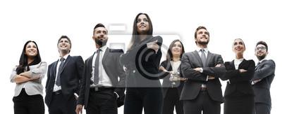 Obraz szczęśliwy udany zespół biznesu na białym tle