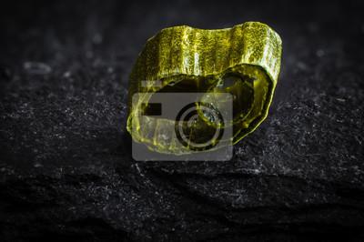 Szczypiorek na kamiennym makro