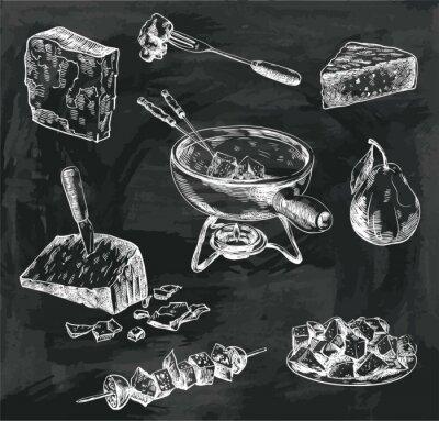 Obraz szkice fondue