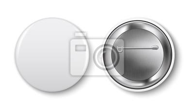 Obraz Szklana wizytówka, wektor. Pusty kwadratowy realistyczne szkła pudełko na podium na białym tle. Prezentacja formuły przezroczystej kostki do prezentacji. Styl 3d.