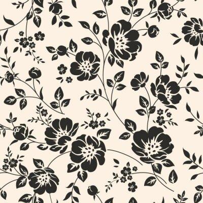 Obraz Szwu z kwiatami.