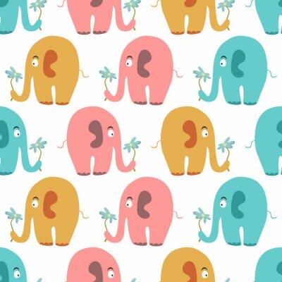 Obraz Szwu z uroczych kolorowych zwierząt
