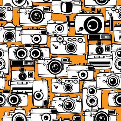 Obraz szwu zabytkowe aparaty fotograficzne filmowe