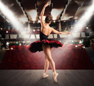 Obraz tancerza klasycznego w teatrze