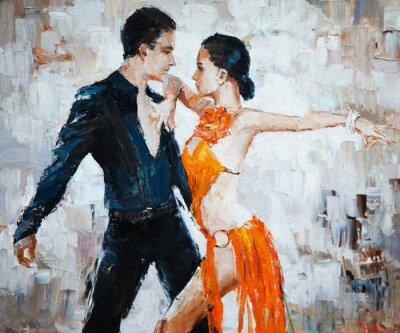 Obraz Tancerze tanga cyfrowy obraz, tancerzy