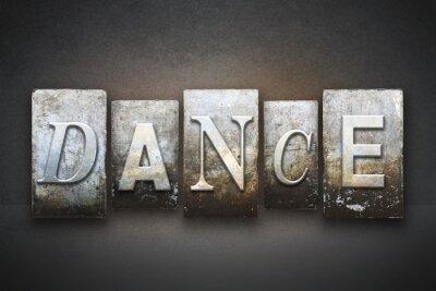 Obraz Taniec typograficznego
