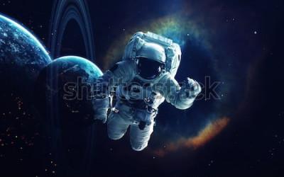 Obraz Tapeta kosmiczna, science fiction. Piękno kosmosu. Miliardy galaktyk we wszechświecie. Elementy tego obrazu dostarczone przez NASA