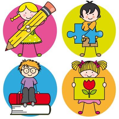 Obraz Tarjeta aprender Pintar, escribir, Leer, jugar