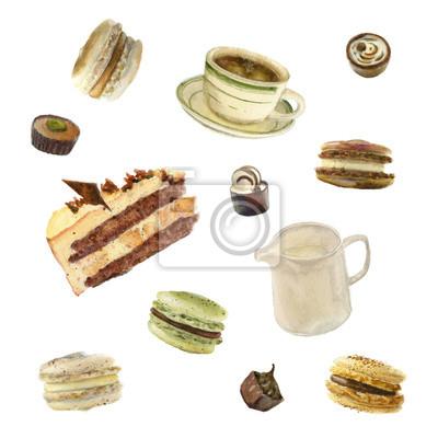 tea party akwarela