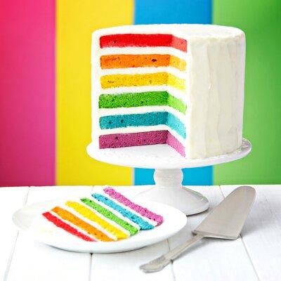 Obraz Tęczowy tort