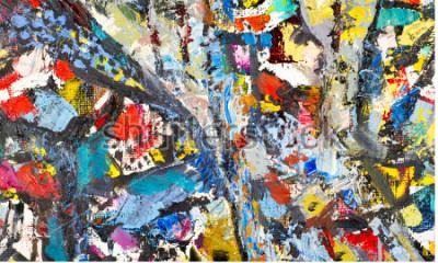 Obraz Tekstura, tło, wzór. Obraz namalowany przez artystę. Sztuka abstrakcyjna tła tekstury, koly akrylowe na płótnie. Sylwetki ludzi, motywy orientalne,
