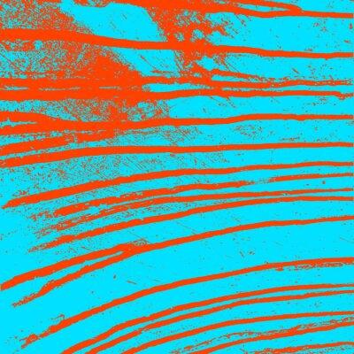 Obraz Tekstury niebieskie ściany z krwawych czerwone plamy. Ilustracji wektorowych.