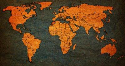 Obraz terytorium Maroka na mapie świata