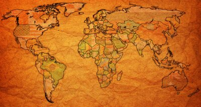 Obraz Terytorium surinam na mapie świata