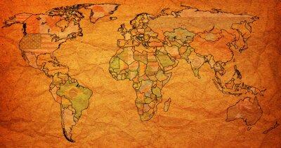 Obraz terytorium Węgier na mapie świata