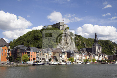 The citadel, the collegiate church and the river Meuse in Dinant