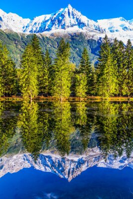 The resort of Chamonix, Haute-Savoie