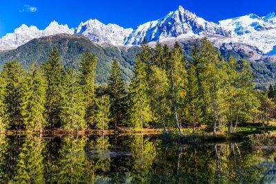 The resort of Chamonix, Mont Blanc