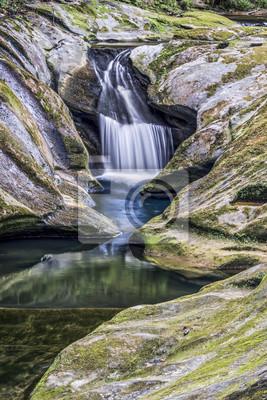 The Upper Falls w Boch Hollow - Hocking Hills, Ohio