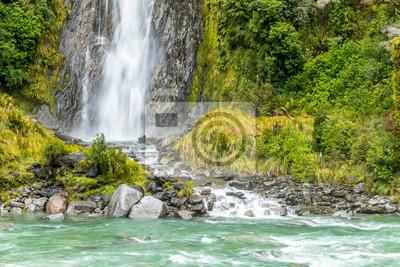 Thunder Creek Falls, New Zealand