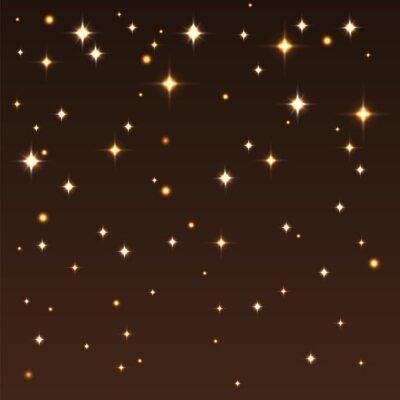 Obraz Tło z błyszczących gwiazd na ciemnym niebie