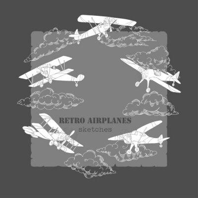 Obraz Tło z samolotami