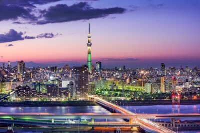 Obraz Tokio, Japonia Skyline