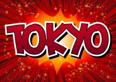 Obraz Tokio - Komiks styl tekstu.