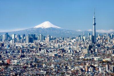 Obraz Tokio Skyline mit Mount Fuji und Skytree