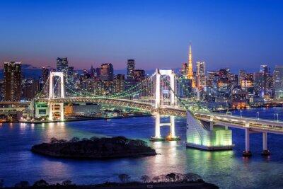 Obraz Tokyo Rainbow Bridge und Tokyo Tower
