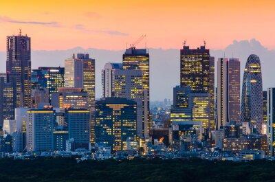 Obraz Tokyo Skyline o zmierzchu