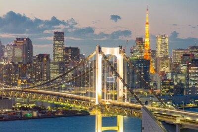 Obraz Tokyo Tower Rainbow Bridge