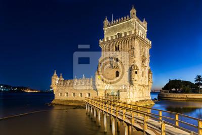 Torre de Belém o zmierzchu.