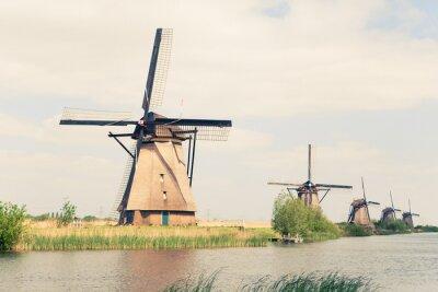 Obraz traditional windmills in Netherlands