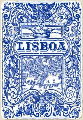 Obraz Tradycyjne Płytki Azulejos Lizbona, Portugalia