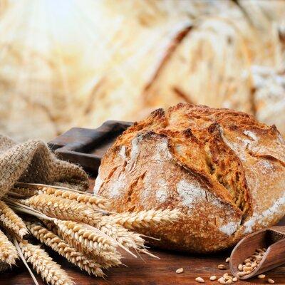 Obraz Tradycyjny chleb świeżo upieczony