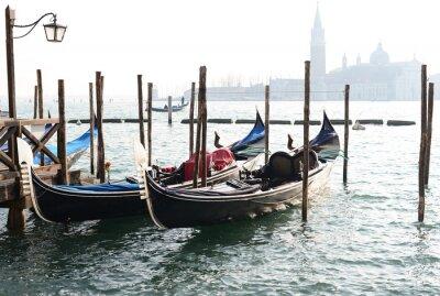 Obraz Tradycyjny Gondola na Canal Grande z San Giorgio Maggiore
