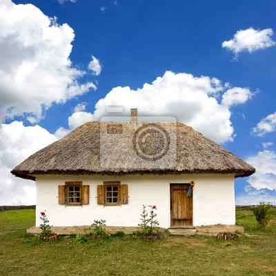 Tradycyjny ukraiński wiejski dom