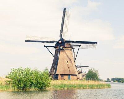 Obraz Tradycyjny wiatrak w Holandii