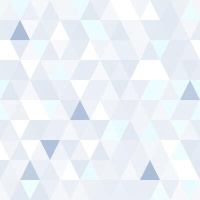 Obraz Trójkątny kształt połyskujące niebieski bez szwu wzór. Geometryczne błyszczące tła.