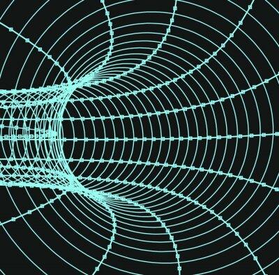 Obraz Trójwymiarowa streszczenie tunelu lub rurka
