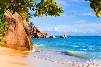 Tropical Źródło beach D 'Argent na Seszelach