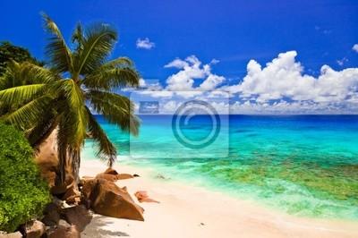 Tropikalna Plaża na wyspie La Digue, Seszele