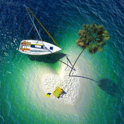 Obraz Tropikalny raj na małej wyspie