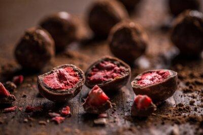 Obraz trufle z ciemnej czekolady