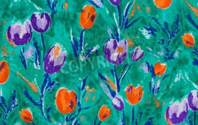 Obraz Tulip drukowania tkanin bliska tle.