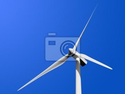 Turbina wiatrowa samodzielnie na niebiesko