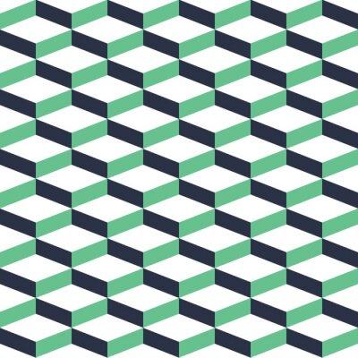 Obraz Turkusowa Geometria Illusion Seamless Pattern