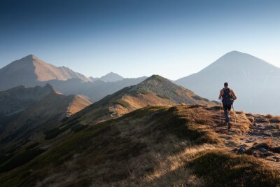 Obraz Turysta w Tatrach